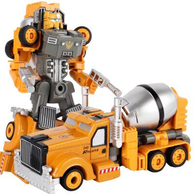 合金变形金刚机器人模型儿童玩具礼盒套装工搅拌车男孩玩具车 合金变形下单立减