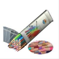 高尔乐KUELOX 36色水溶彩色铅笔三角金属桶装水溶铅笔 筒装彩铅