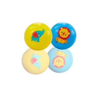 【当当自营】费雪FisherPrice 12个月宝宝初级训练球手抓拍拍球皮球捏捏叫球装婴儿童玩具黄蓝组合F0903-2