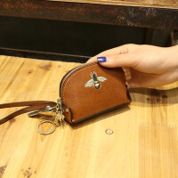 钱包女短款 韩版简约学生小钱包迷你新款钱夹女士零钱包女 绿色送手腕带