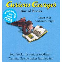 Curious George Box of Books  乔治猴卡板故事书(四本装)9780618226115