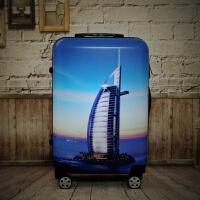 涂鸦旅行箱学生韩版小行李箱女20寸可爱卡通拉杆箱男万向轮皮箱24