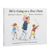 廖彩杏推荐让重复句当家 大声朗读 美国Top100 We're Going on a Bear Hunt 和爸爸去猎熊 我们要去捉狗熊 音频 英文原版启蒙亲子读物 4-8岁 大开本