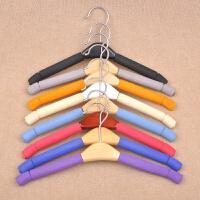 实木衣架服装店儿童防滑衣服架木头衣撑衣挂衣柜木质裤架