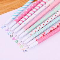 彩色中性笔创意学习办公用品可爱水笔套装十色中性笔