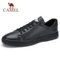 骆驼男鞋新款真皮皮鞋男韩版潮流休闲鞋时尚英伦厚底板鞋子男