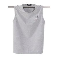 夏季男士纯棉汗背心大码纯棉圆领T恤健身运动宽松加肥加大号无袖
