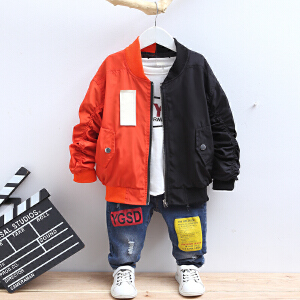 童装2018秋季新款男童AKMD夹克外套中大童时尚百搭外套