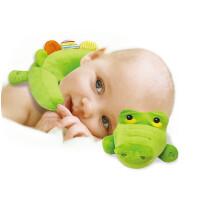 费雪鳄鱼毛绒公仔枕头儿童U型毛绒抱枕小孩护枕宝宝安抚毛绒玩具