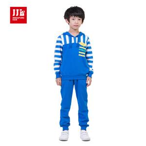 季季乐童装春秋季男童针织套装开衫卫衣外套运动休闲套装BCZ53096
