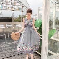 实拍现货新款超舒适棉麻三种穿法名族风度假裙沙滩裙长裙连衣裙