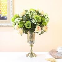 轻奢玻璃花瓶摆件客厅插花干花装饰品透明创意欧式餐桌电视柜摆设
