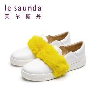 莱尔斯丹 春休闲运动深口小白鞋毛毛鞋乐福鞋 9M30320