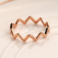 玫瑰金个性关节戒指女士潮人对戒钛钢细指环饰品