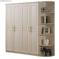 卧室整体板式组装衣柜 简约现代经济型非实木质组合四五门大衣橱