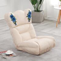 20190403001338779懒人沙发单人榻榻米沙发可折叠坐垫阳台飘窗休闲椅床上靠背懒人椅 -带刺绣
