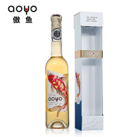 aoyo傲鱼智利进口红酒原瓶原装慕斯卡黛晚收甜白葡萄酒375ml*1