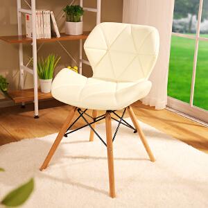 亿家达电脑椅家用实木脚简约现代电脑椅办公椅休闲椅洽谈椅子餐桌椅