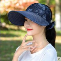 帽子女鸭舌帽韩版休闲百搭空顶遮阳出游时尚户外防晒出游凉帽