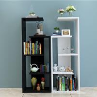 简易置物架简约现代卧室客厅创意置物柜书架落地多层隔断架展示架