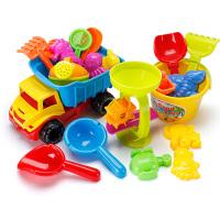 儿童沙滩玩具车桶套装宝宝玩沙挖沙漏铲子洗水工具洗澡决明子玩具