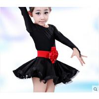 少儿拉丁舞服装儿童舞蹈裙 儿童拉丁舞服装女童长袖练功服
