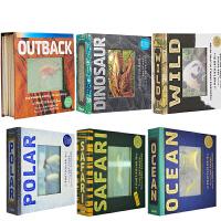 会动的3D图片书5册 海洋 草原 丛林 极地 野生动物 英文原版 Ocean/Jungle