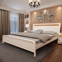 御品工匠 纯实木床双人床1.8米 橡木大床北欧现代1.5米成人床 B03床