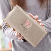女士钱包长款学生韩版拉链钱夹手机包大容量零钱手拿包