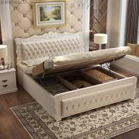 欧式床双人床 主卧现代简约公主床1.8米实木婚床1.5m简欧卧室 +10cm乳胶床垫