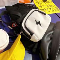 韩国INS原宿风街头蹦迪土酷刺绣斜挎包腰包便携包男女百搭手机包