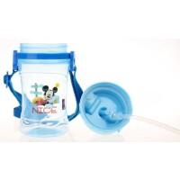 迪士尼儿童水杯小学生吸管杯360ML夏天透明水壶有背带5802