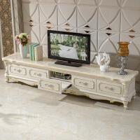 欧式茶几电视柜组合实木电视机柜大理石面小户型客厅地柜配套家具 整装