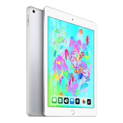 Apple iPad 平板电脑 2018新款9.7英寸(128G WLAN版/A10 芯片/Retina显示屏/Touch ID技术MR7K2CH/A)银色国行正品,可使用礼品卡支付