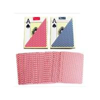 开心屋桌游 大字德州扑克牌塑料牌 PVC防水磨砂背宽牌大角 红蓝可选