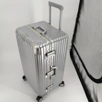 超轻加厚运动款拉杆箱万向轮30寸超大容量旅行箱男28女行李箱32寸 高贵银 铝框材质铂金款 30寸