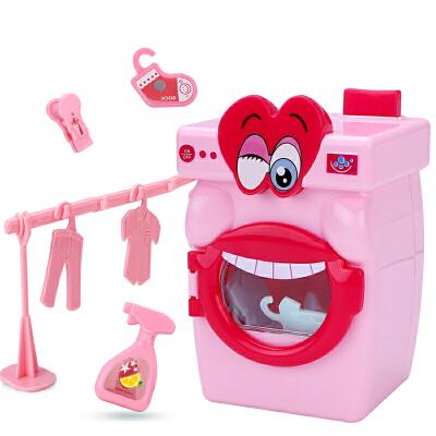 儿童迷你洗衣机小型玩具手动滚轮套装女孩过家家
