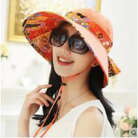 户外女帽可折叠遮阳帽夏潮防晒沙滩帽大沿户外防紫外线太阳帽
