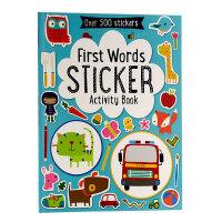 【中商原版】初学单词贴纸书英文原版First Words Sticker Book趣味认知贴纸书