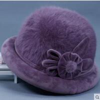 中老年女士礼帽韩版休闲妈妈帽老年人奶奶短檐盆帽老太太帽