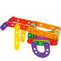 贝旺雅乐扣拼插拼搭 儿童早教益智桌面塑料积木玩具3岁以上
