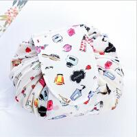 家居日用韩版懒人化妆包大容量抽绳收纳用品袋洗漱包旅行便携多功能包