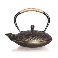 日本南部生铁壶茶具烧水煮茶老铁壶铁壶月亮湾带滤网茶壶煮水泡茶功夫茶具铸铁壶无涂层 铁茶壶