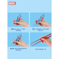 迪士尼儿童筷子训练筷一段练习筷男孩家用宝宝餐具蜘蛛侠学习筷