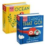 启蒙立体小书2册 交通工具 海洋生物 英文原版绘本 Pop-up Ocean儿童立体绘本书 认知识物