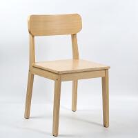 北欧咖啡厅实木餐椅靠背椅子家用电脑书桌凳曲木椅子现代简约