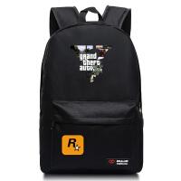 侠盗猎车手动漫背包 中小学生开学书包简约双肩包背包