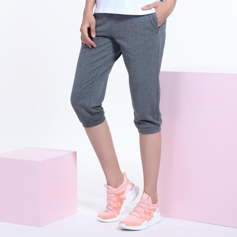 古星夏季新款女士运动裤七分裤休闲修身时尚薄款透气小脚裤中短裤