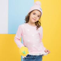 加菲猫童装女童卫衣2019冬装新款儿童加绒加厚卫衣GGW17456