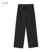 【3折到手价:60元】爱客休闲黑色宽松直筒裤女KY711K001C